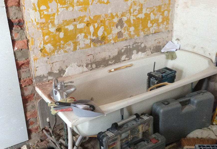 Removing old bathroom